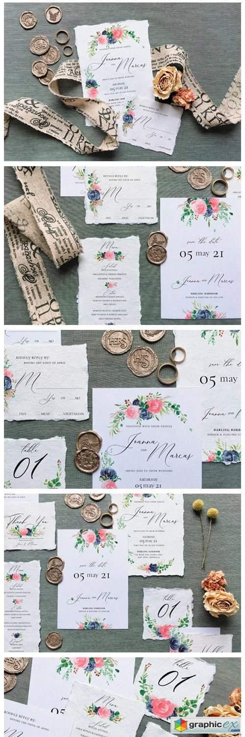 Rose & Blue Wreath Wedding Suite