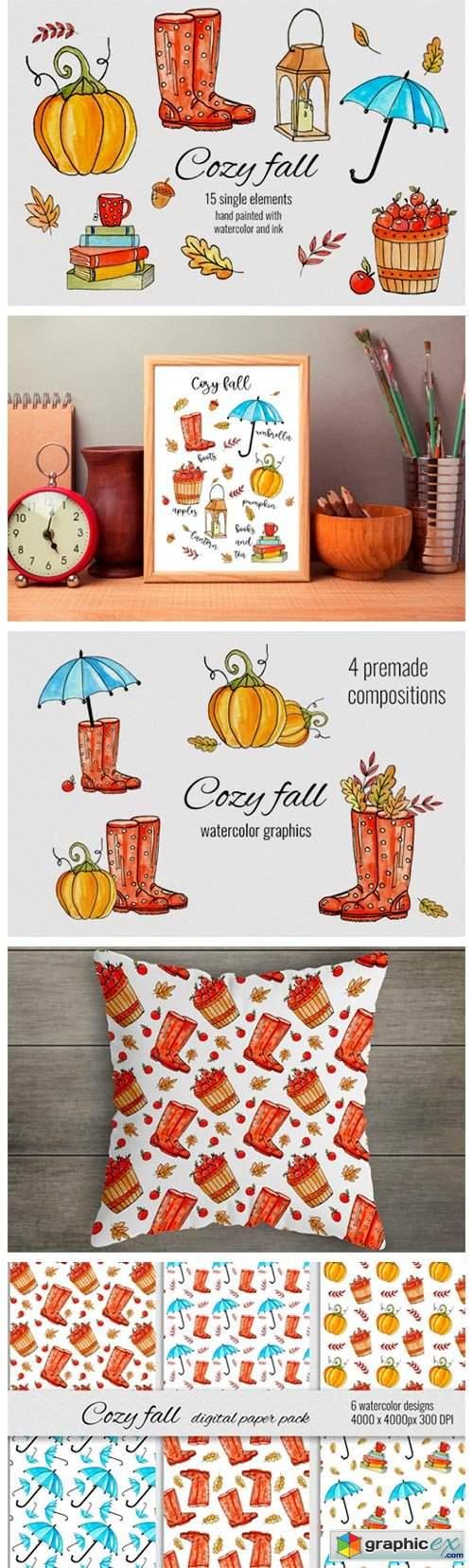 Cozy Fall Watercolor Set