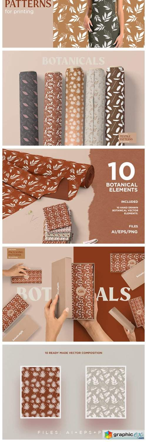 Botanical Seamless Patterns 4003910