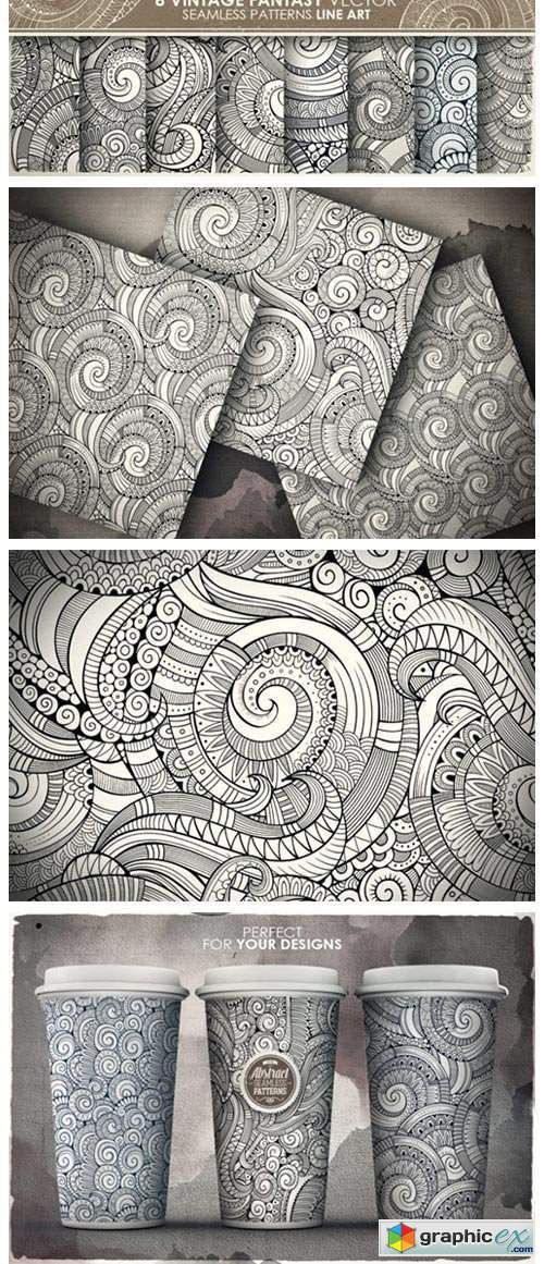 Spiral Seamless Patterns