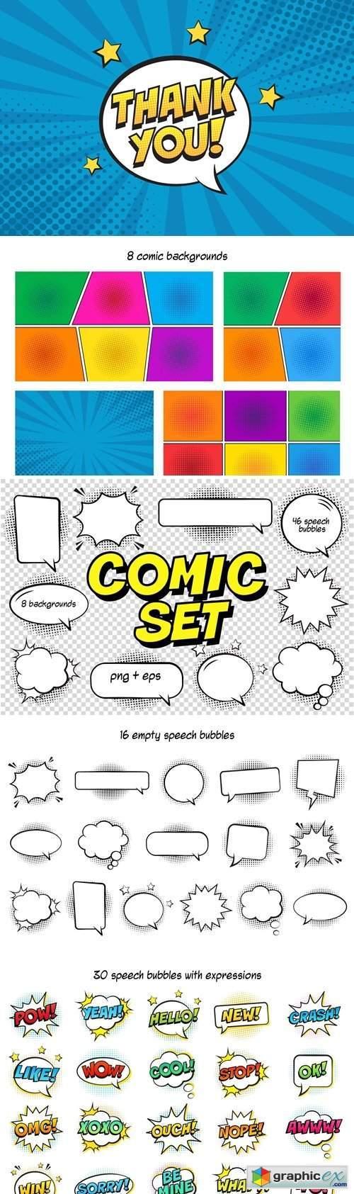 Big Comic Elements Set