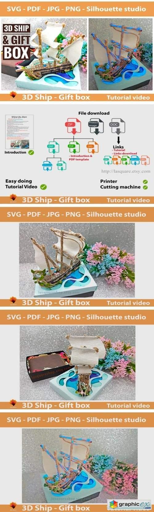 3D Simple Ship Template