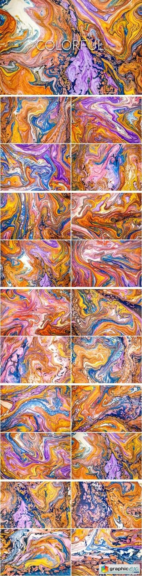 Handmade Liquid Paint - Colorful