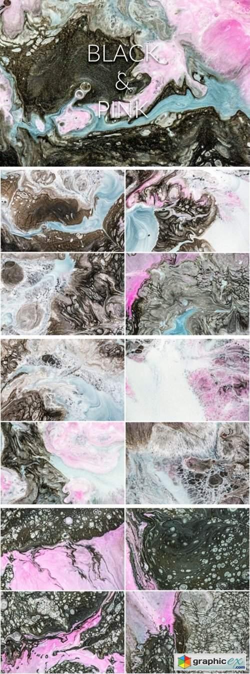 Handmade Liquid Paint - Black&Pink Vol.2