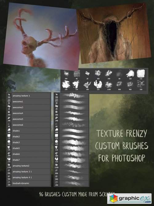 Texture Frenzy Photoshop Brushes