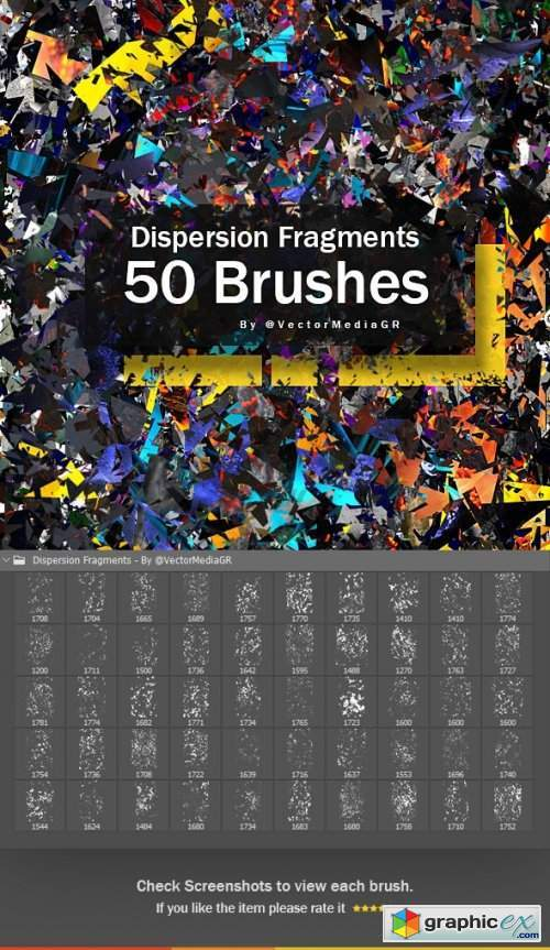 Dispersion Fragments - Photoshop Brushes