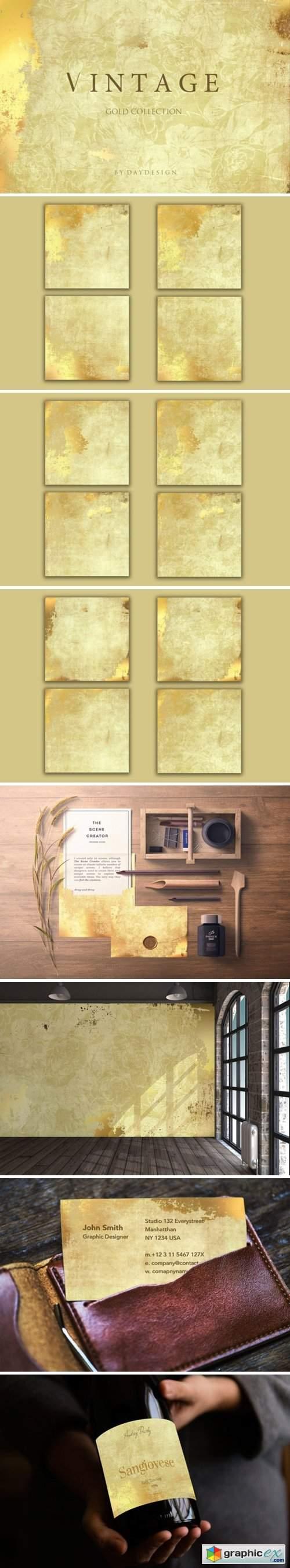 Vintage Gold Digital Paper