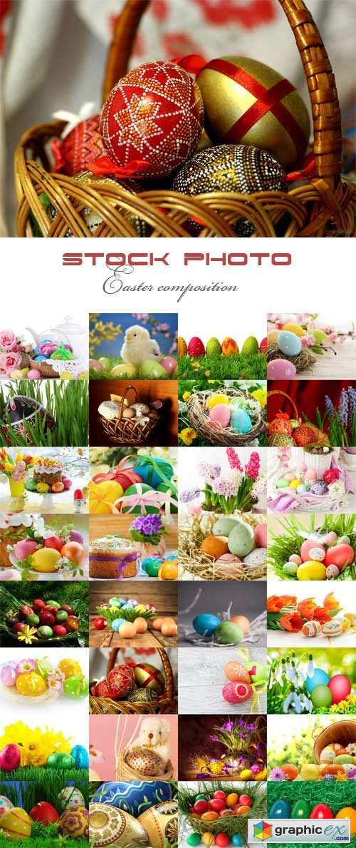 Easter composition raster graphics