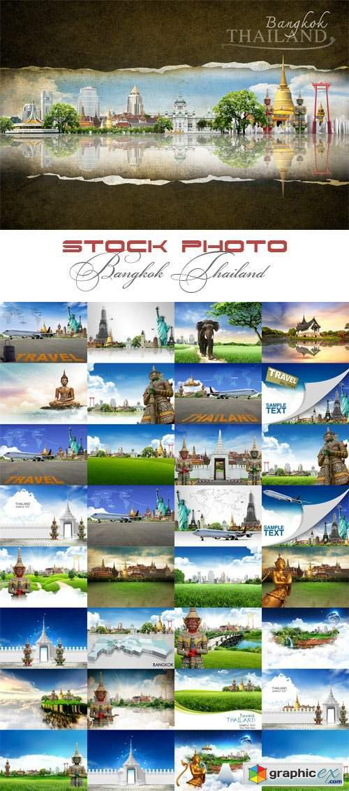 Bangkok. Thailand raster graphics