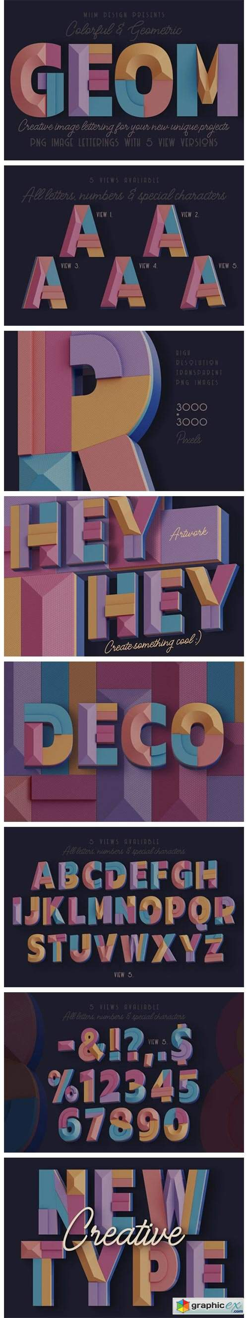 Decorative Geometry - 3D Lettering