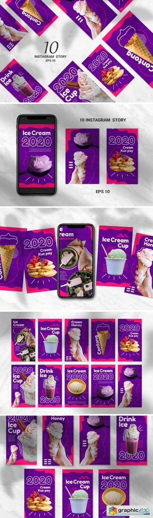 Sweet Food Instagram Story Vector