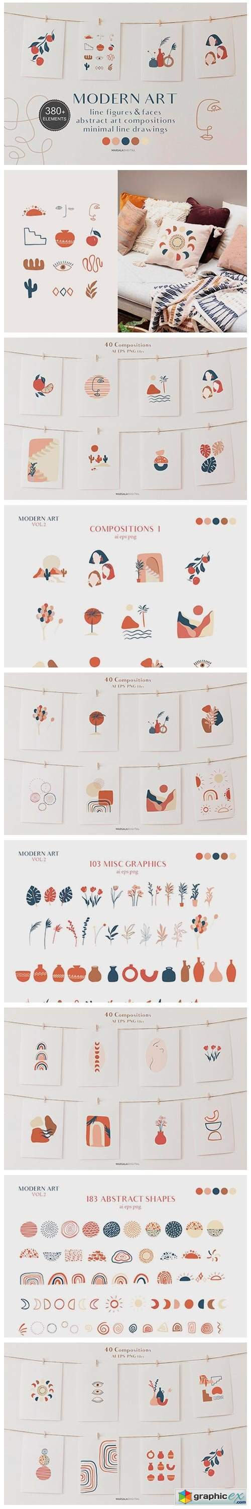 Abstract Prints Shapes Graphics vol2