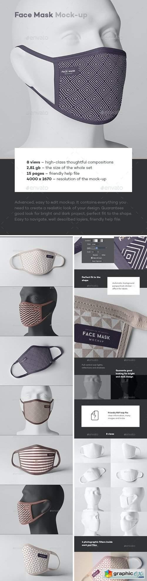 Face Mask Mock-up 26695259