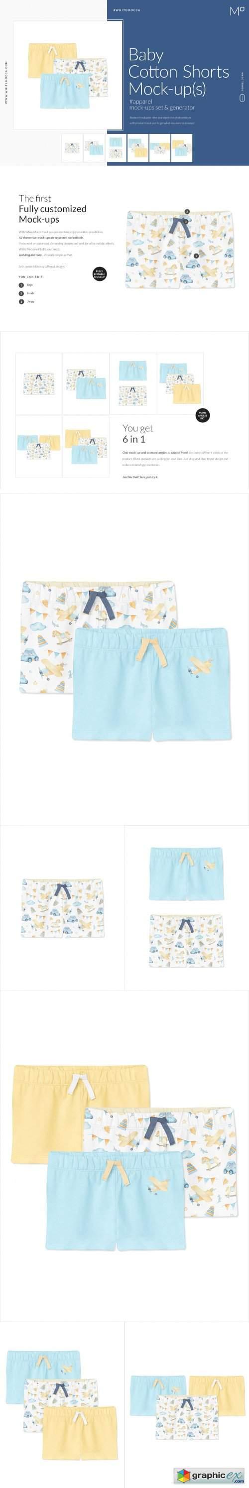 Baby Cotton Shorts Mock-ups Set