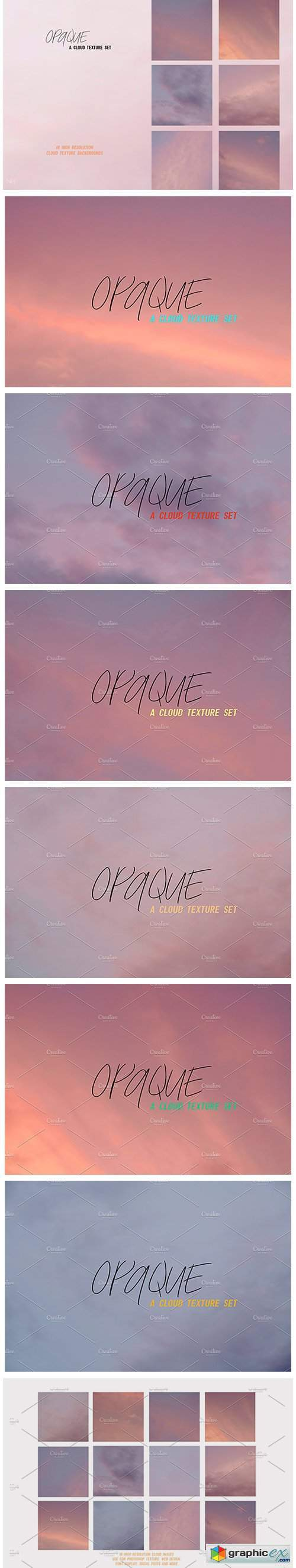 Opaque | Cloud Texture Photo Bundle