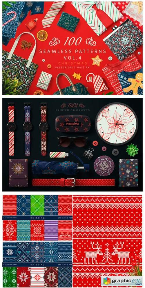 100 Seamless Patterns Vol.4 Xmas