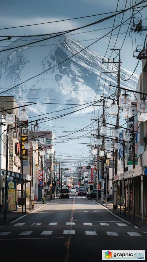 Mount Fuji in Kawaguchiko town