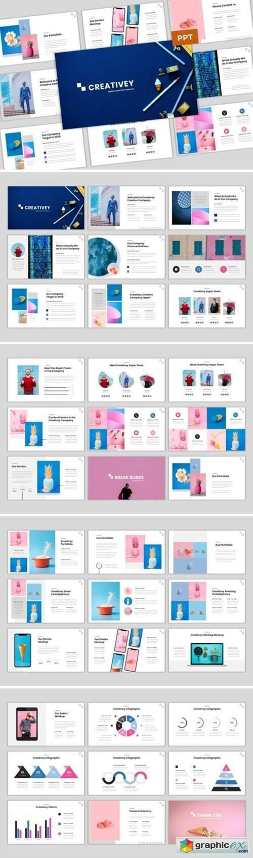 Creativey - Simple Color Pop Template