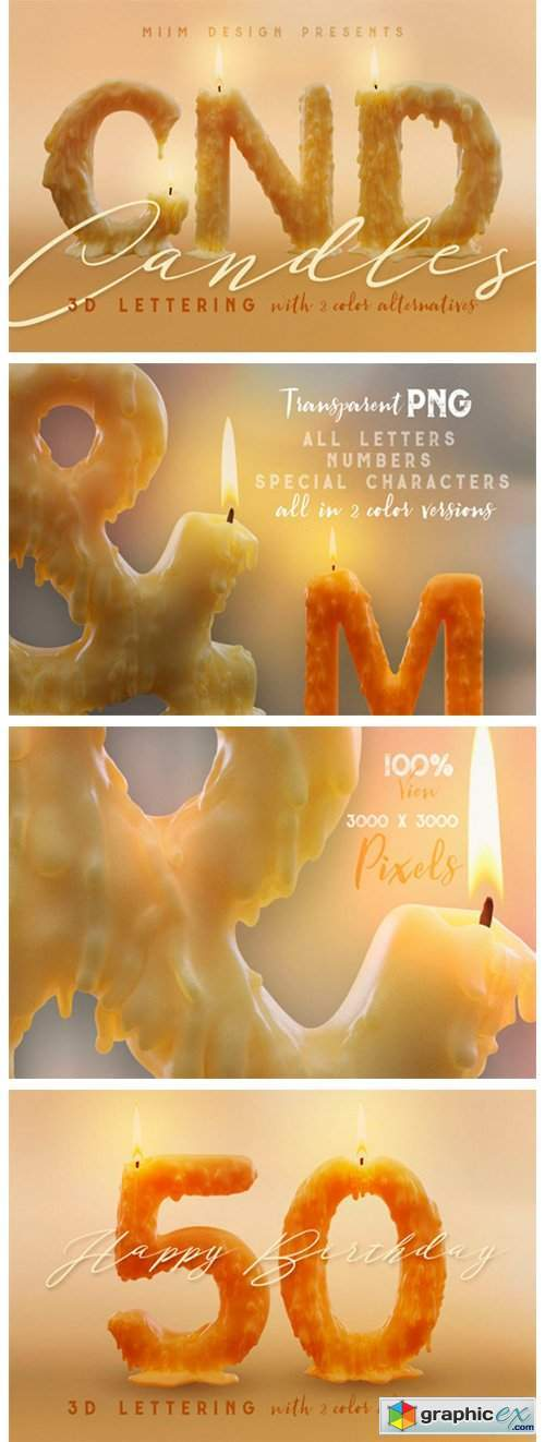 Candle Light – 3D Lettering