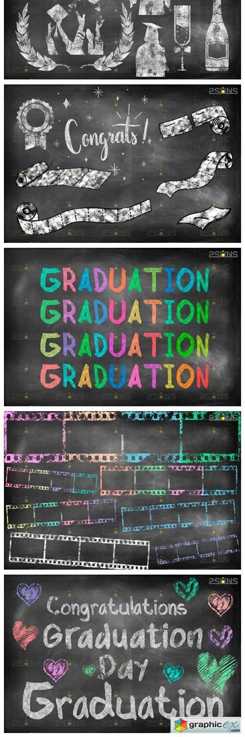 Overlay Graduation Sidewalk Chalk Art 4253232