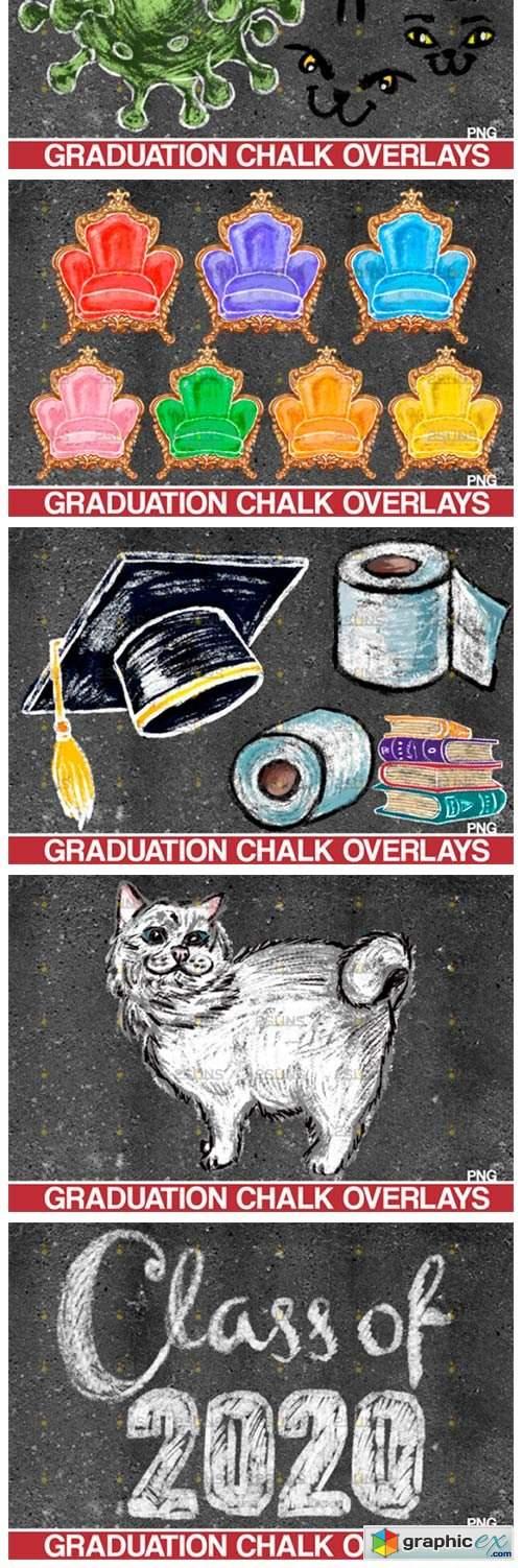 Overlay Graduation Sidewalk Chalk Art 4253189