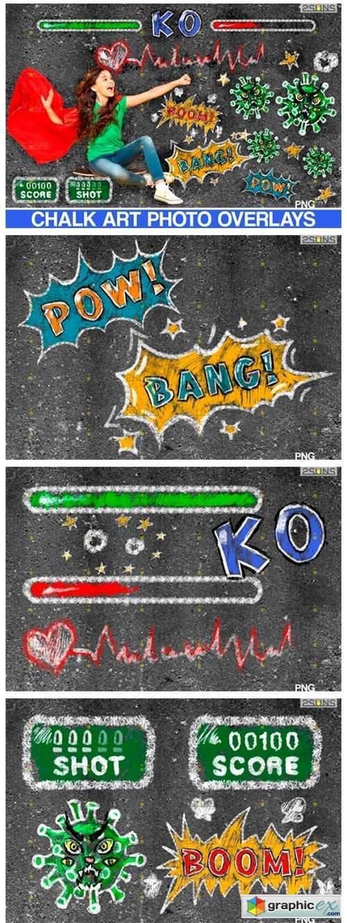 Chalkboard CV Clipart Photoshop Overlay