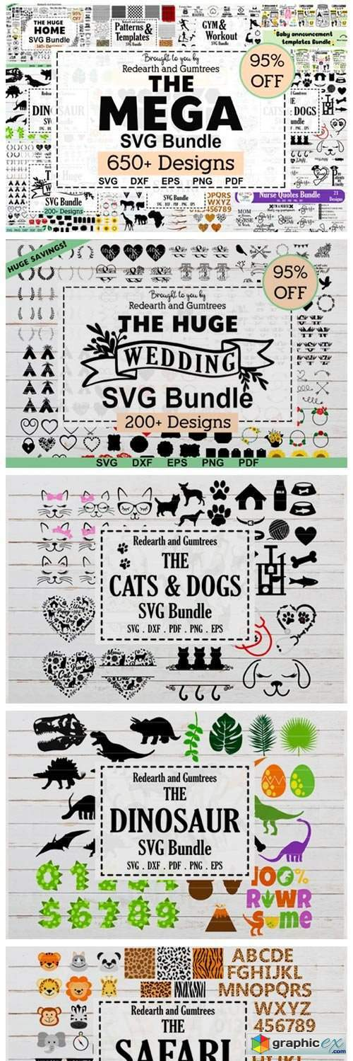 The MEGA SVG Bundle.More Than 650 Design