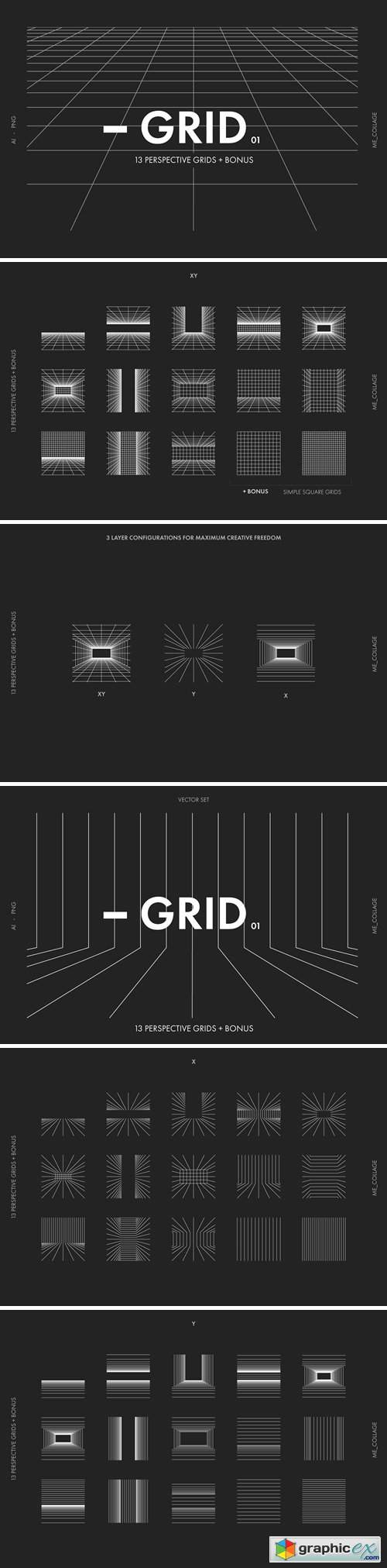 VECTOR PERSPECTIVE GRIDS