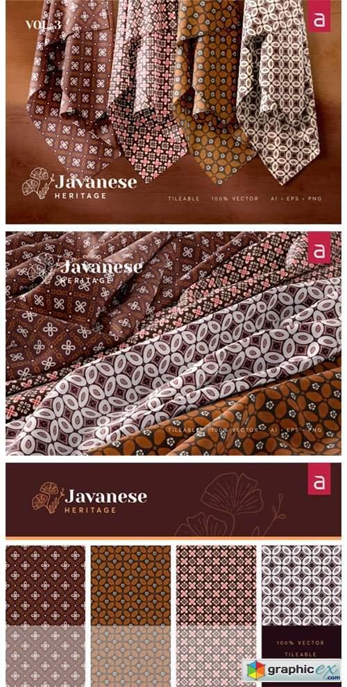 Javanese Heritage: Seamless Batik Vol 3