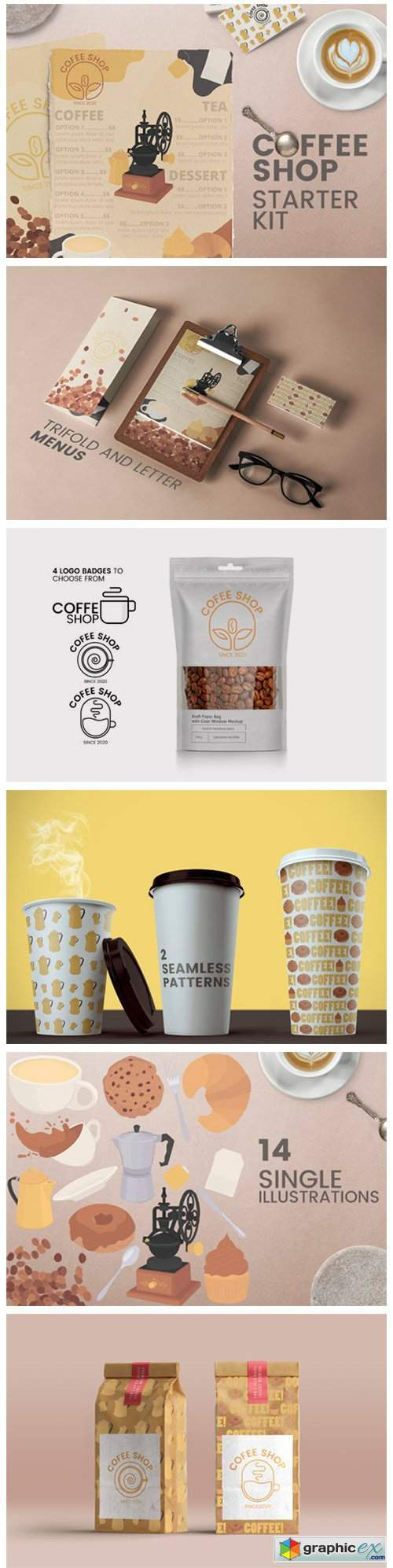 Coffee Shop Kit - Menus Logos MORE!