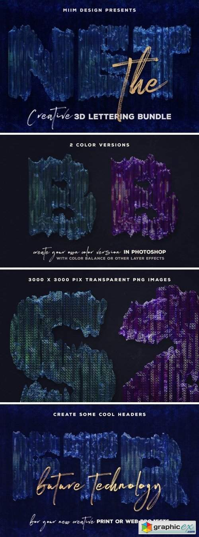 The Net – 3D Lettering