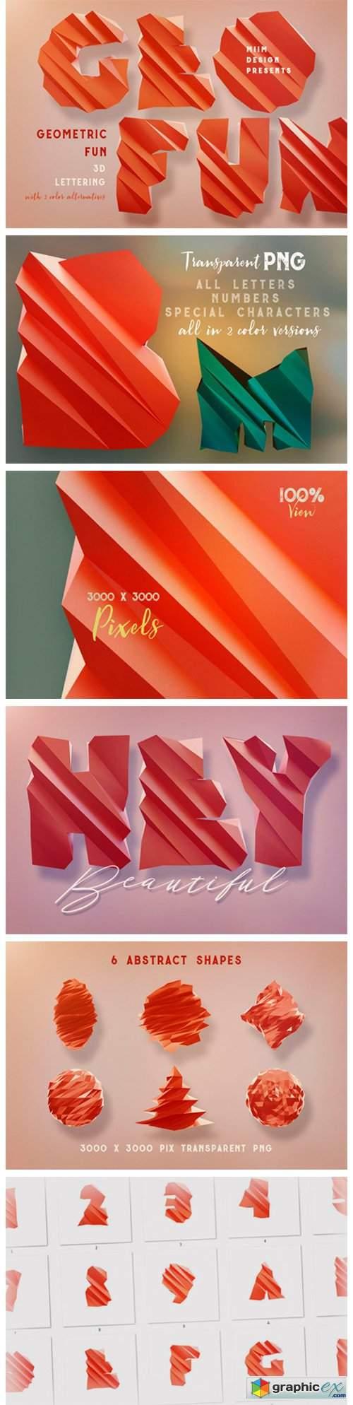 Geometric Fun – 3D Lettering