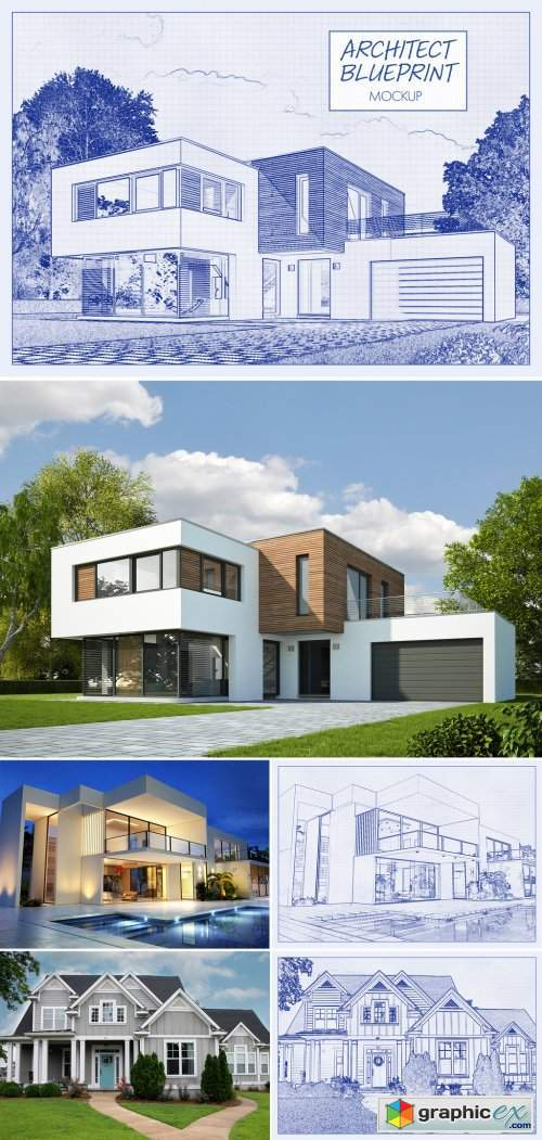 Architectural Blueprint Effect