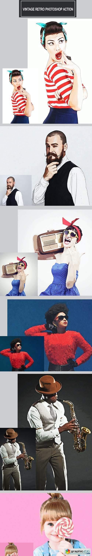 Vintage Retro Photoshop Action