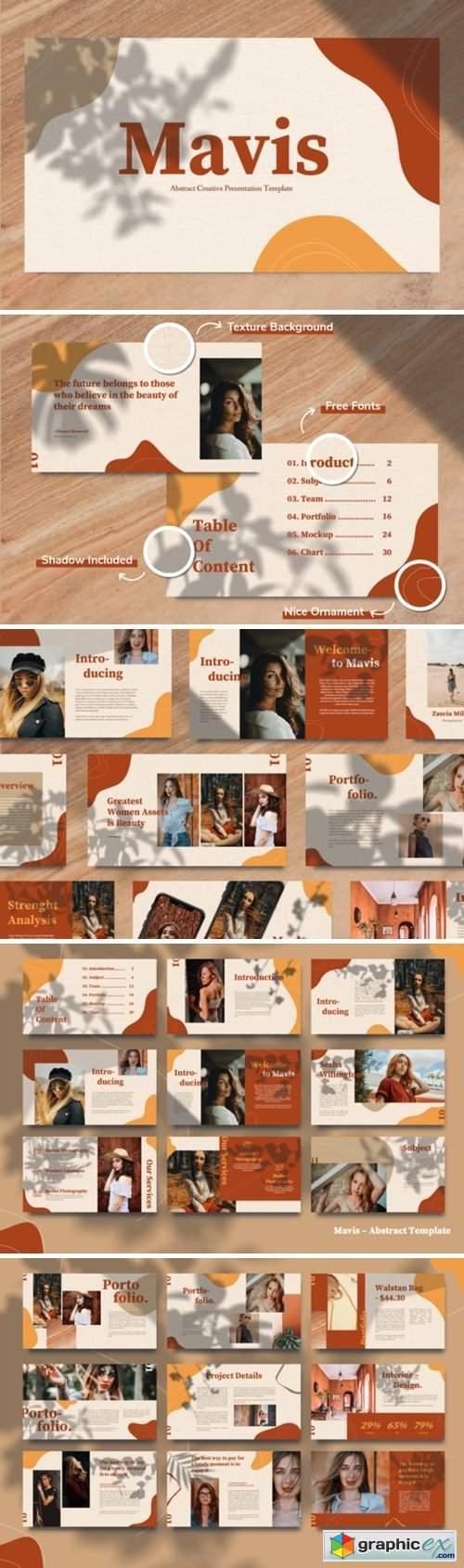 Mavis - Abstract Lookbook Keynote Template