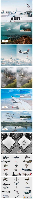 30 Aircraft Photoshop Overlays