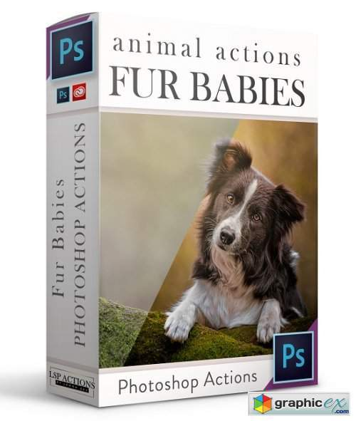 LSP Actions - FUR BABIES - Photoshop Action Suite for dogs and other animals