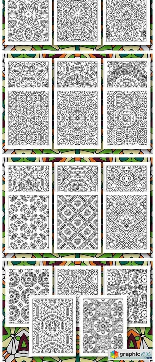 35 Geometric Pattern Coloring Set 4