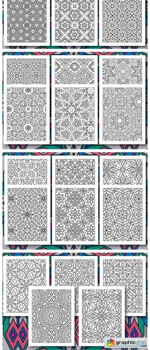 35 Geometric Pattern Coloring Set 3