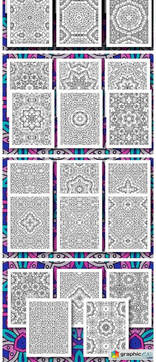 35 Geometric Pattern Coloring Pages