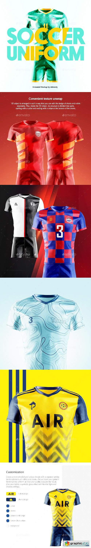Soccer Uniform Animated Mockup 26561446
