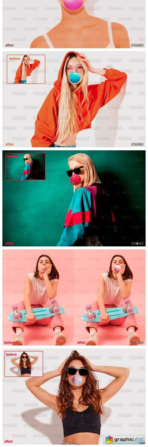 100 Blowing Bubble Gum Photo Overlays