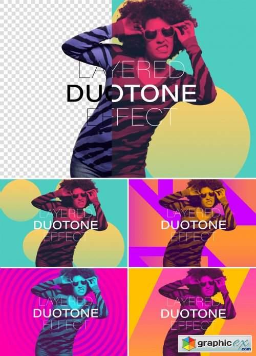 Photo Duotone Effect Mockup 357910599
