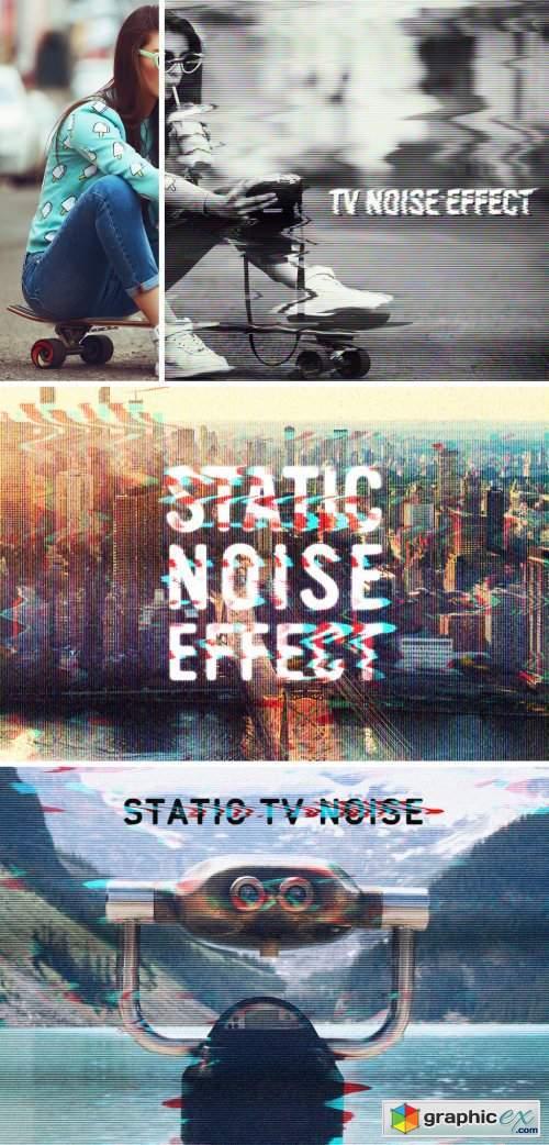 TV Static Noise Effect Mockup