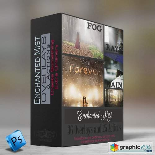 Enchanted Mist - Photoshop Actions & Overlays Collection
