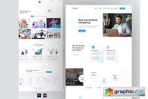 Gravicy - Agency Landing Page