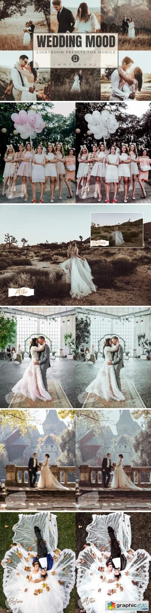 8 Wedding Mood Mobile Lightroom Presets