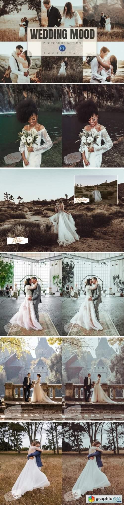 8 Wedding Mood Photoshop Actions ACR LUT