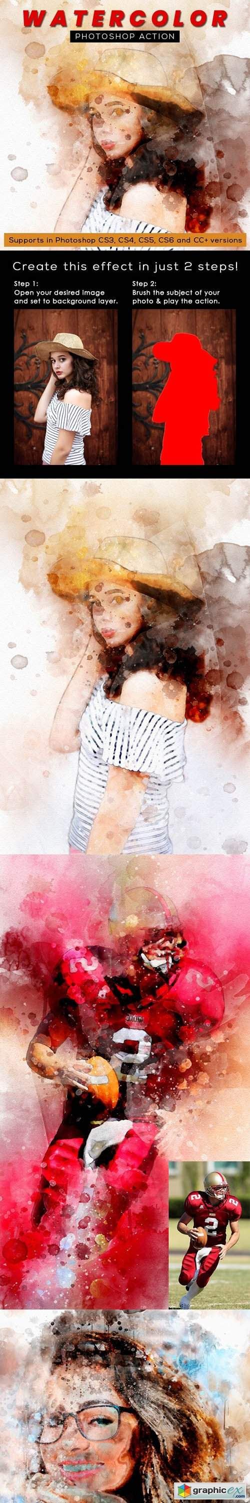 Watercolor Photoshop Action 26297940