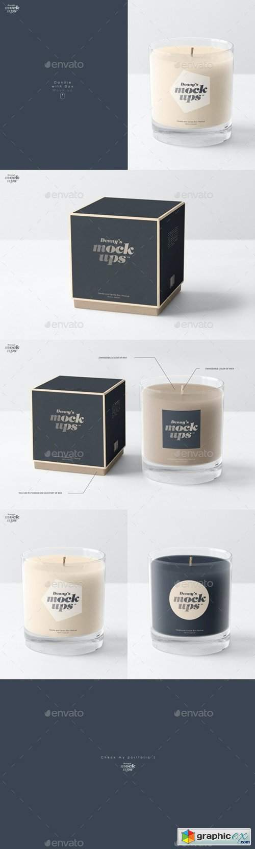 Candle in Gift Box Mockup